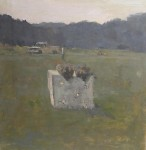 E.M. Saniga Groundhogs in a Meadow, 2004 Oil On Panel 12.75 x 13 in