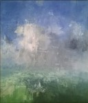 Stuart Shils Clearing Sky Strong Blue Over Village Trees, 2006 Oil On Canvas 19.25 x 16.25 in