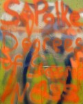 Peter Acheson Homage to Sigmar Polke, 2012 Mixed Media On Canvas 30 x 24 inches