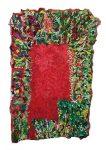 Liv Aanrud Red Door, 2015 flannel and burlap, 67 x 42 inches
