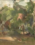 Lennart Anderson Backyards, 1961 Oil On Canvas On Board 20 x 15.75 in