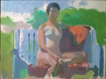 Lennart Anderson Nude on Bench oil on canvasboard 9 x 12 in