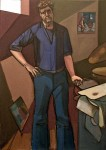 Leland Bell Standing Self Portrait, 1979 oil on canvas, 52 x 37 in