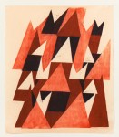 "Meghan Brady Red Woodcut, # 2 2011 reduction woodcut on paper 42"" x 36"""