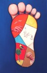 Gregory Gillespie The Foot oil on wood 55 1/4 x 36 in