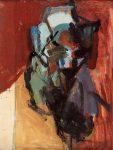 Earl Kerkam Untitled, verso: Four Studies of Still Life's in Pencil, 1964 Oil On Board 18 x 13 3/4 in