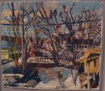 Stanley Lewis George Perlman's Studio Vermont Studio Center, 2001 Oil On Cardboard 11.25 x 13 in