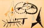 Arshile Gorky Untitled, 1941 Ink and other media on paper 4.38 x 6.75 in