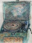 Peter LaBier untitled (Record Player), 2009 Ink On Paper 12 x 9 in