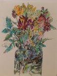 Peter LaBier Untitled (Flower Bouquet Drawing), 2012 pen on paper 12 x 9 in