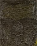 Lester Johnson  Portrait / Front View 10th Street, 1962  Oil On Canvas 20 x 16 in