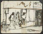 Bill Rice  Street Scene, n.d. watercolor on paper, 8.5 x 11 in